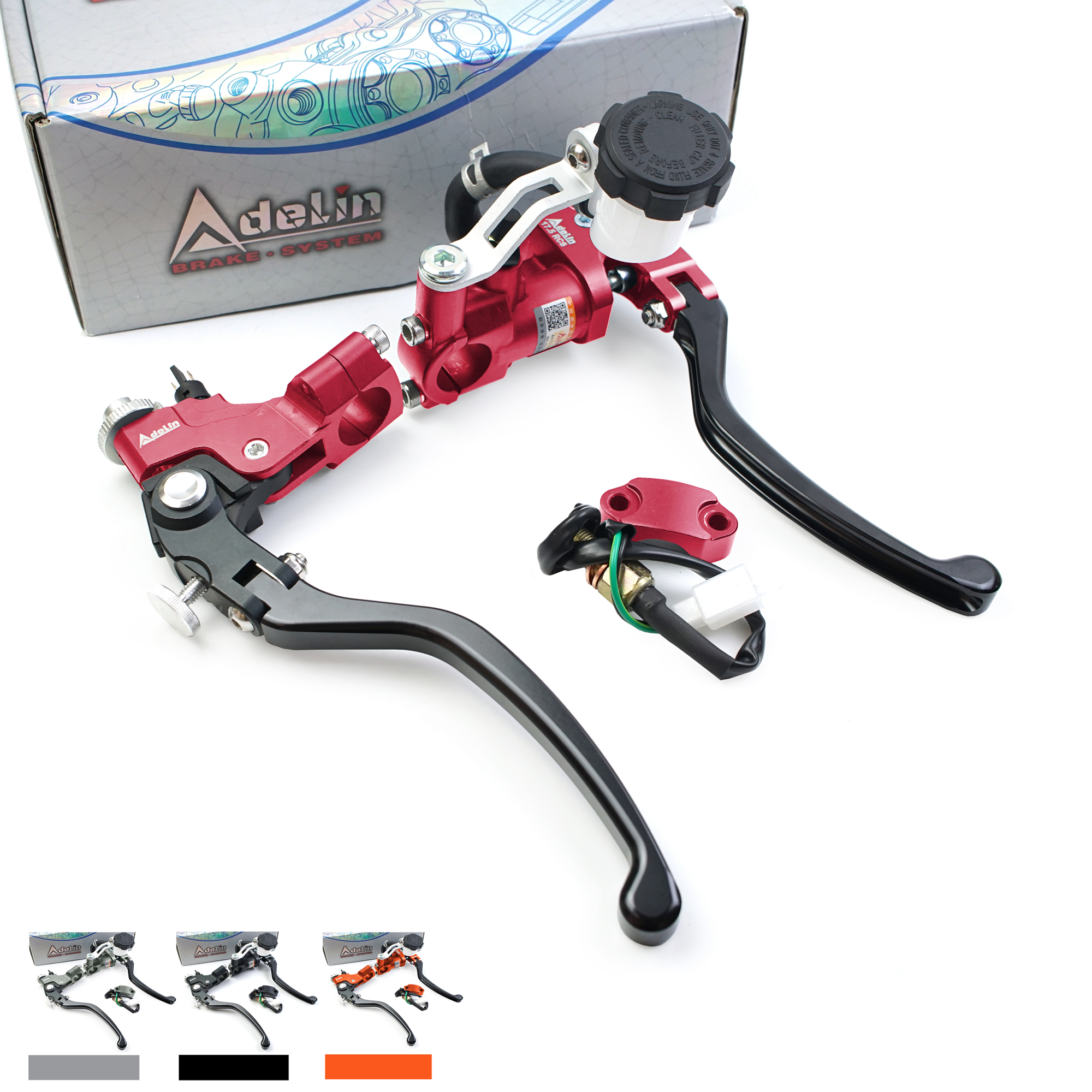 Adelin PX7 19RCS 17.5RCS Perch Clutch Motorcycle Brake Master Cylinder Cable Line Clutch Clamp 7/8