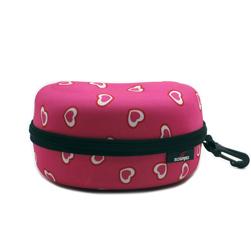 Eyewear Case Adult Child Zipper Water Resistant Portable Spectacle Cases Bag Container Accessories With Hook For Skiing Goggles