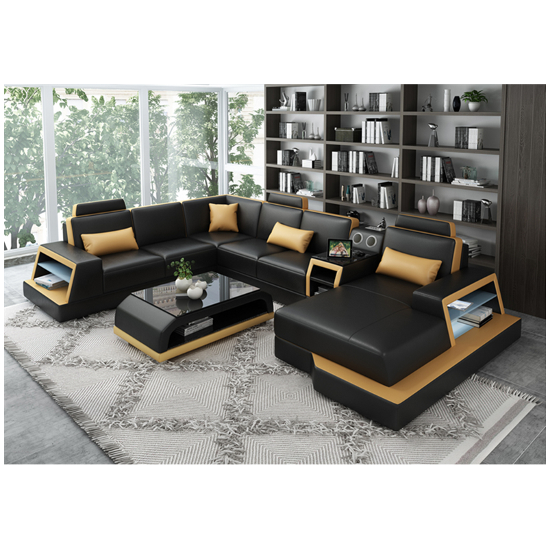 Genuine Leather Sofas Luxury Furniture