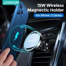 Joyroom 15W Qi manyetik kablosuz şarj cihazı araç telefonu tutucu iPhone 12 11 Pro Max hızlı şarj araba telefonu montaj için Samsung S10