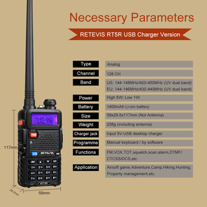 Image 3 - RETEVIS RT5R اسلكية تخاطب USB VHF UHF ثنائي النطاق هام راديو FM 10 قطعة اتجاهين راديو التواصل ل Baofeng UV 5R UV5R RT 5R