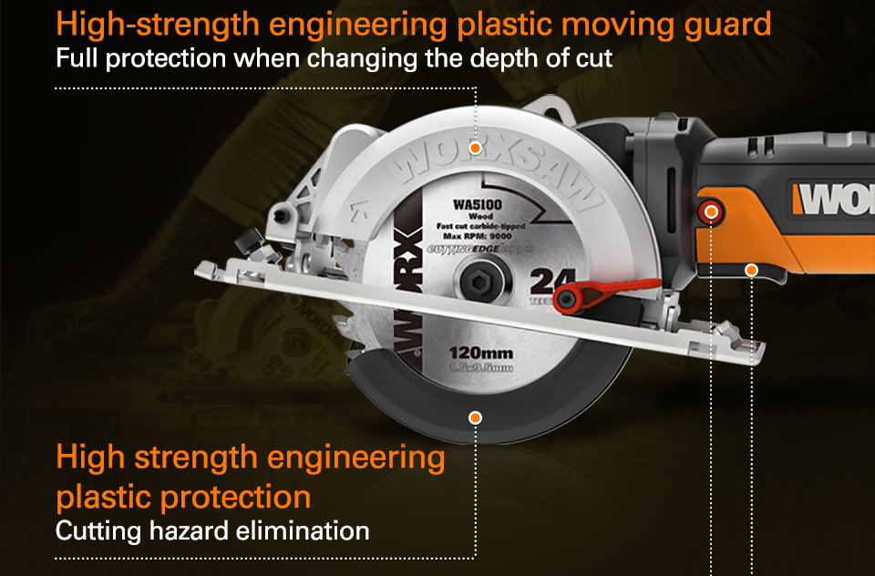 Worx 500W Electric Saw Hight Strength Engineering