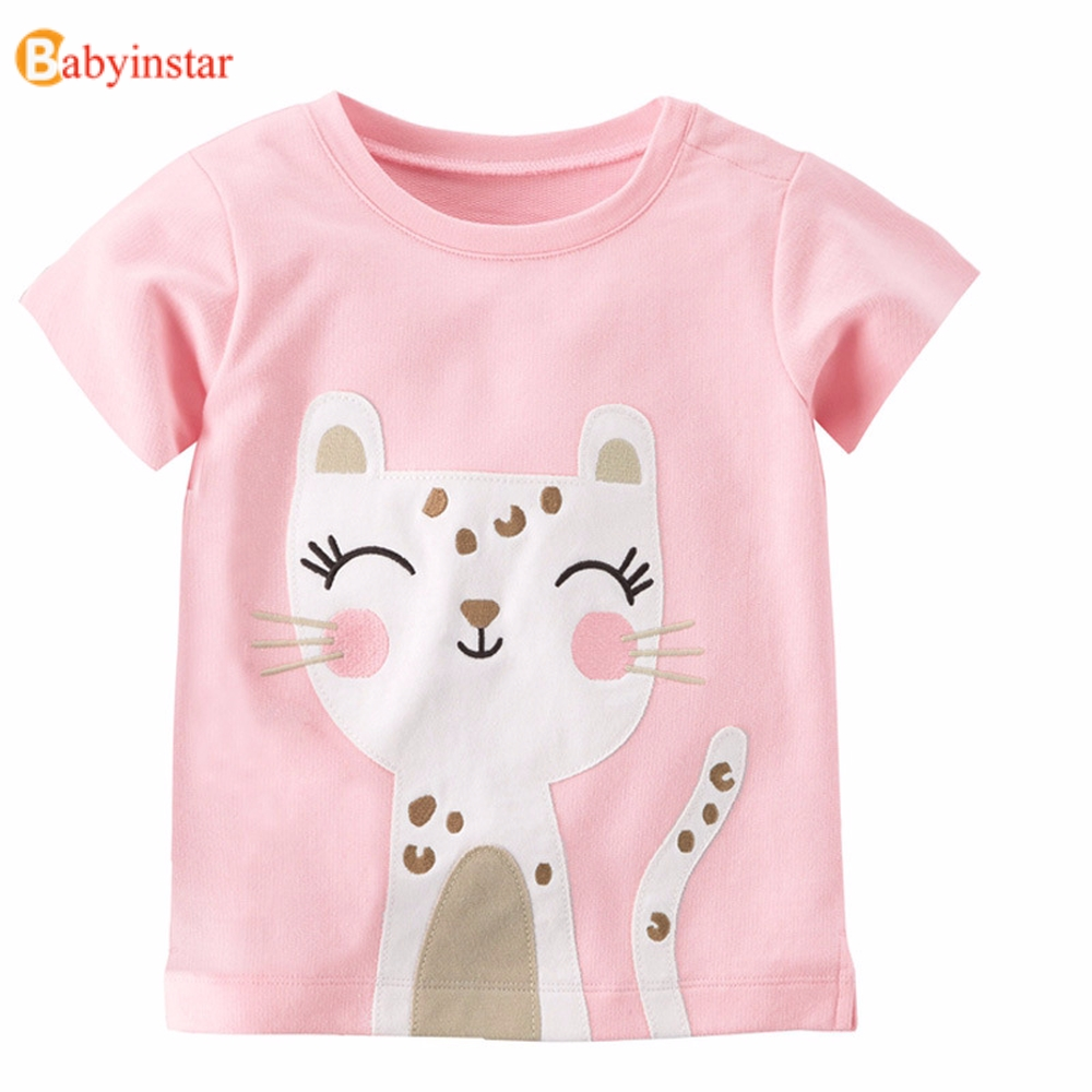 Babyinstar T-Shirts Girls Tops Happy-Birthday Kids Children Brand Clothing for Costume