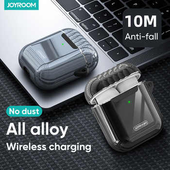 Joyroom Earphone Case For Apple Airpods 1 2 Bluetooth Wireless Protective Metal