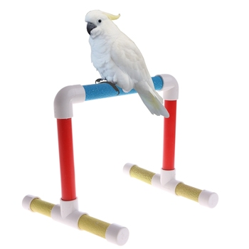 Pet Bird Paw Grinding Stand Perches Cage Training Chew Toys For Parrot Budgie 2