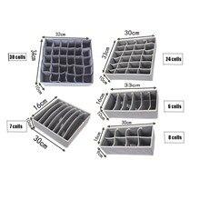Caja de almacenamiento de ropa interior de carbón de bambú no tejido, cajas de almacenamiento de ropa interior plegables y extraíbles, cajón de calcetines calzoncillos organizador