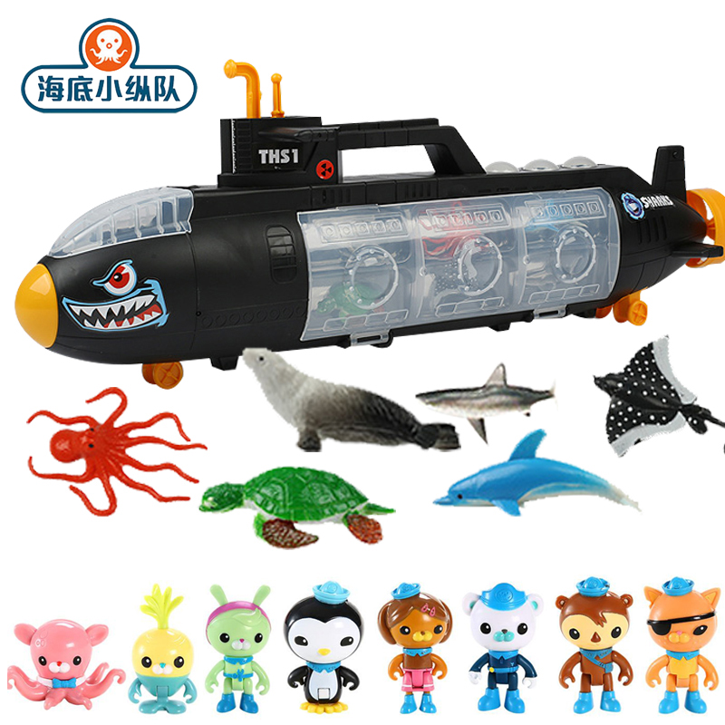 55cm Octonauts Action Figure Toy Black Submarine U-Boat Model Captain Barnacel Animal Figrues Children Christmas Birthday Gifts