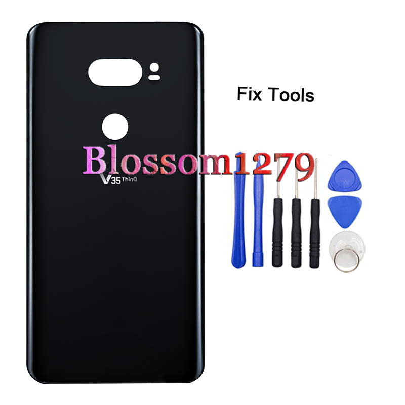 1Pcs Rear Door Panel For LG V35 Thinq V35thinq Back Battery Cover Glass Housing Case Repair Replacment