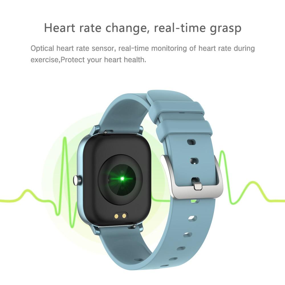 He1657b4b92644f2ebfe3036d651d08cdh 2021 New P8 Color Screen Smart Watch Women men Full Touch Fitness Tracker Blood Pressure Smart Clock Women Smartwatch for Xiaomi