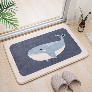 Image 5 - Cartoon animal dog Door mat Akita and Kirky carpet soft mats cute Home bathroom Balcony doorway mat absorbent Non slip gift