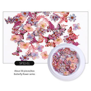 Nail Art Stickers DIY Decorations Tips Nail Art Animal Plant Color Flower Bee Nail Decoration Fruit Sticker Nail Decals TSLM1