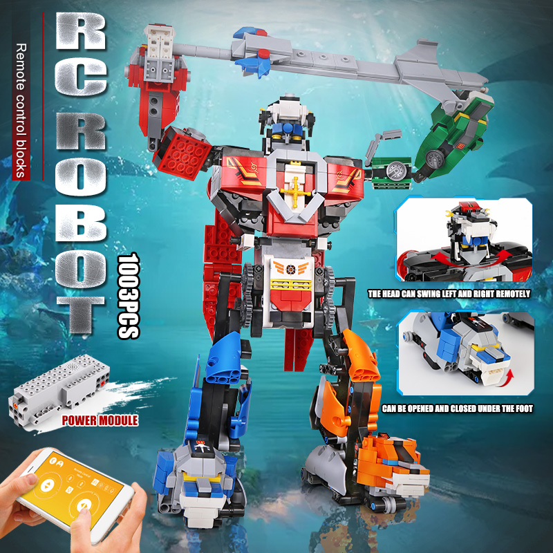 MOULD KING 15037 The APP RC Motorized Changing Robot Model