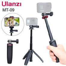 Ulanzi MT 09 Extend Gopro Vlog Tripod Mini Portable Tripod for Gopro Hero 9 8 7 6 5 Black Session Osmo Action Camera
