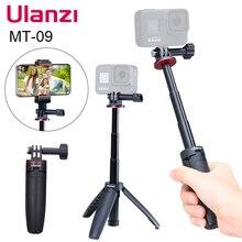 Ulanzi MT 09 להאריך Gopro Vlog חצובה מיני נייד חצובה לgopro Hero 9 8 7 6 5 שחור מושב אוסמו פעולה מצלמה