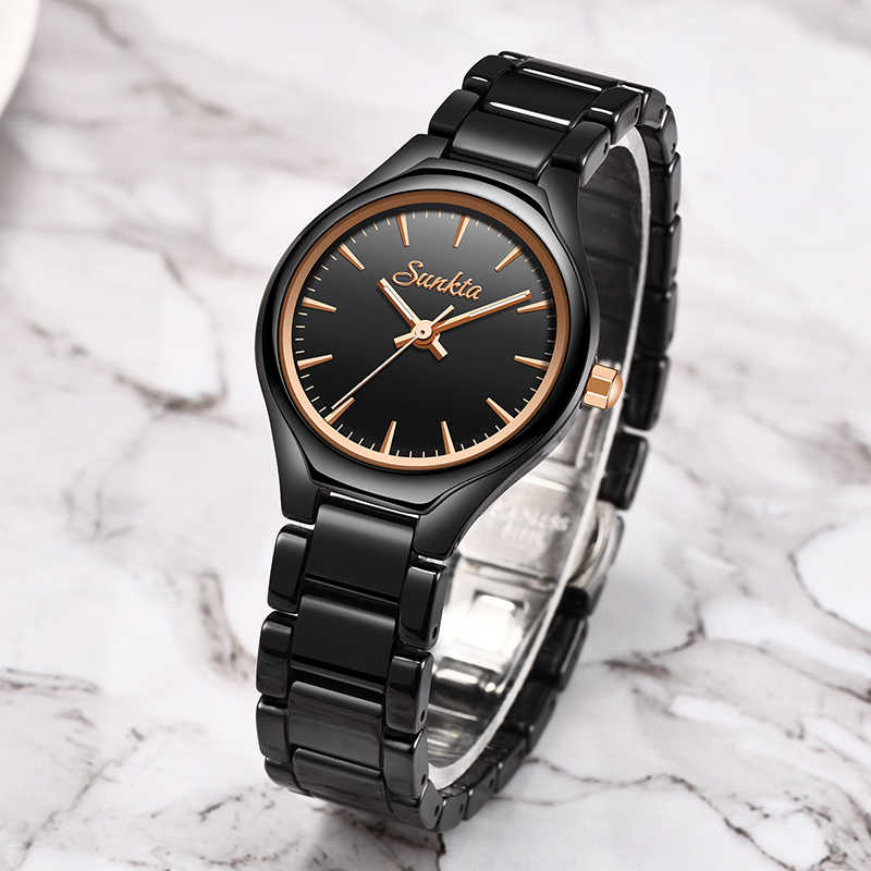 Sunkta moda feminina relógios de luxo marca pulseira relógios para mulheres meninas presente relógios mulher vestido relógios relogio feminino 2020
