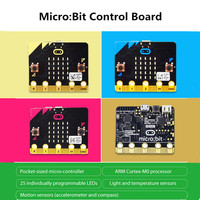 BBC Micro:Bit Micro-Controller with 25 Individually Programmable LED Micro Bit Board Motion Sensors for Kids Creative Learning