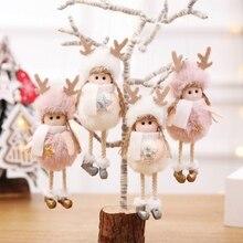 Christmas Doll Standing Angel Wings Cute Plush Gift Home Decor Ornaments Pendant Adornos De Navidad