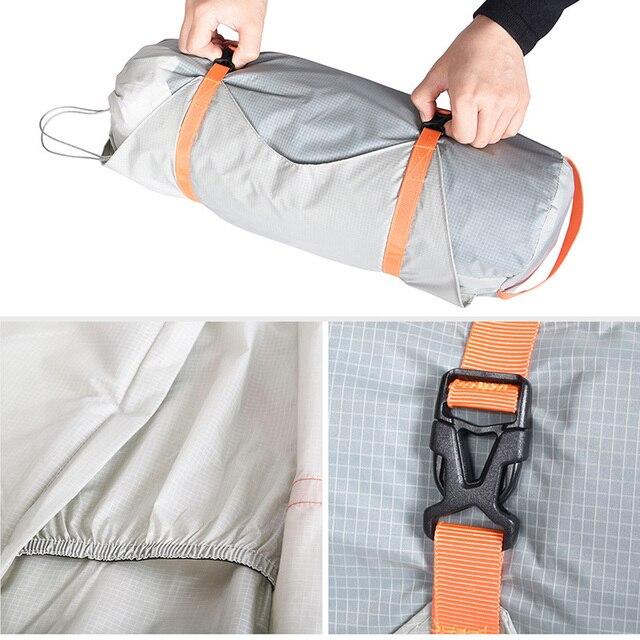 Viagem sem limites saco de armazenamento de compressão para tenda saco de dormir pólos tenda esteira de náilon à prova dnylon água de acampamento saco de armazenamento de viagem