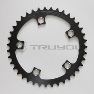 "Image 4 - TRUYOU Road Bicycle Chain Wheel BCD 110 53T 39T Dual Disc Chainwheel Folding Bike Chainring Aluminium Double Speed CNC 3/32"""