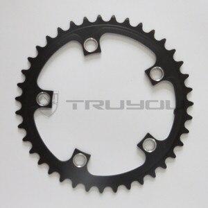 "Image 4 - TRUYOU yol bisiklet zinciri tekerlek BCD 110 53T 39T çift disk aynakol katlanır bisiklet aynakol alüminyum çift hızlı CNC 3/32"""