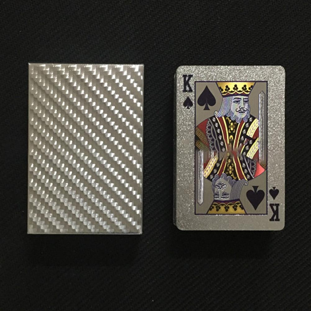 Hot High Quality Durable Plastic Playing Cards Waterproof Golden Poker Black Gold Collection Black Diamond Poker Cards