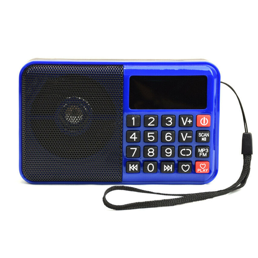 Boombox MP3 Player Easy Operation Multifunctional FM Radio TF Card Portable Wireless Elder With Speaker Button Home Digital