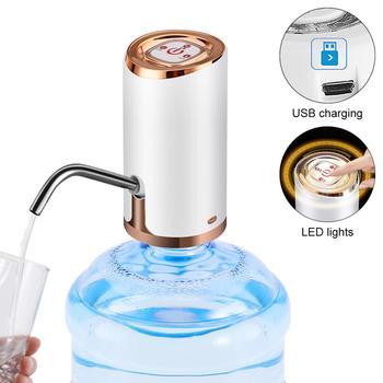 Dwa rodzaje przenośny Push-button bezprzewodowy akumulator elektryczna inteligentna pompa wody z kablem USB 304 rurka ze stali nierdzewnej tanie i dobre opinie CN (pochodzenie) Z tworzywa sztucznego