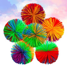 10pcs 60MM Colorful Decompression Toy Rainbow Fidget Sensory Ball Baby Stretchy Ball Stress Relief Kids Autism Special Needs