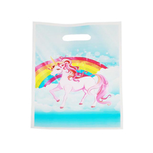 30pcs Gift Bag Rainbow Unicorn Plastic Children Birthday Party Supplies Activity Decoration Candy Return