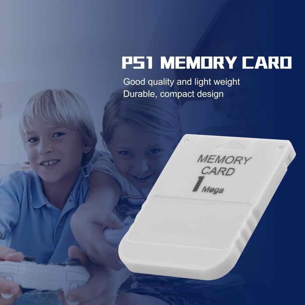 PS1 biała karta pamięci 1M 1MB dla Playstation 1 jedna PS1 PSX gra przydatna praktyczna niedroga karta pamięci Flash karta microsd