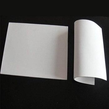 White  PTFE Film//Sheet Virgin High Strength Temperature 500 x 250 x 0.5MM