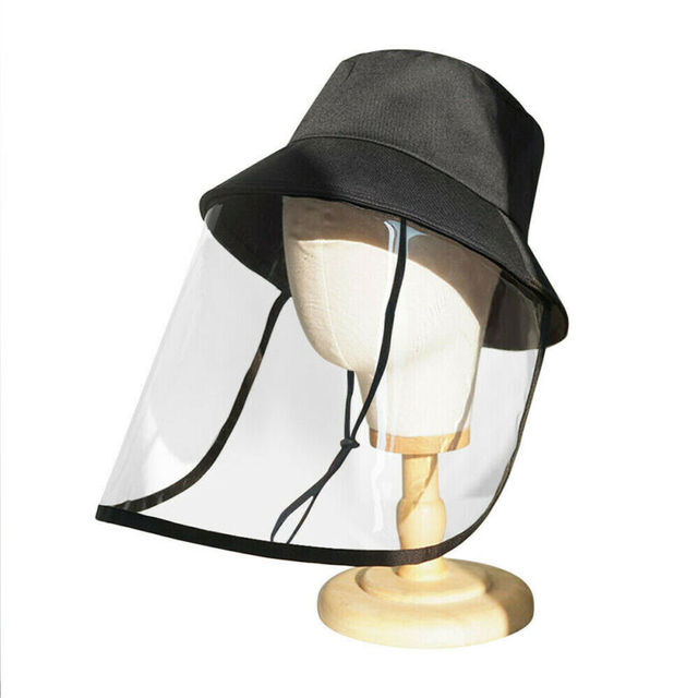 Protective Outdoor Protection Hat Anti Virus Saliva UV Hat Full Face Shield Fisherman's Hat Bucket Hats 4