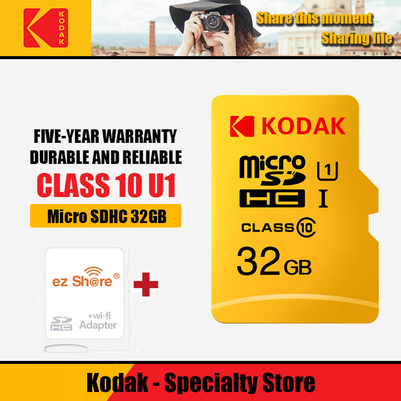 Ez Share Wireless Wifi Adapter+Kodak Micro SD Card 16 32 64 128gb Class10 Microsd Wifi Wireless Tf Flash Card Memory Card