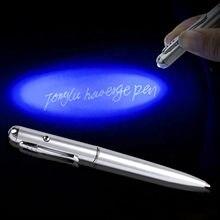 Incolor luz luminosa caneta lâmpada uv lâmpada invisível ultravioleta aprendizagem educação brinquedos para criança caneta esferográfica caneta luminou