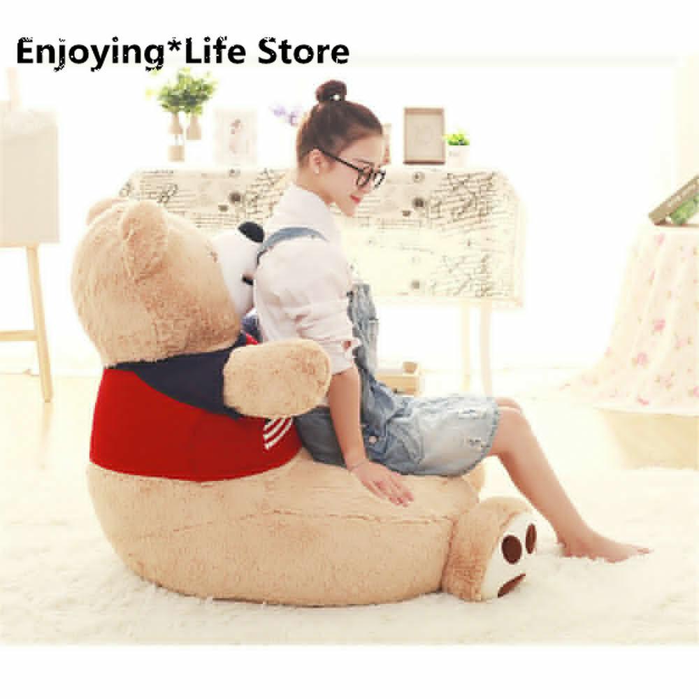 Cotton Bear Plush Luxury Sofa Anime Bears Chair Tatami Cushion Kids Kindergarten  Kids Chair  Kids Furniture Toddler Chair