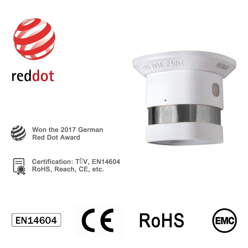 HEIMAN Zigbee Fire alarm Smoke detector 4pcs Smart Home system 2.4GHz High sensitivity Safety prevention Sensor Free Shipping - 2
