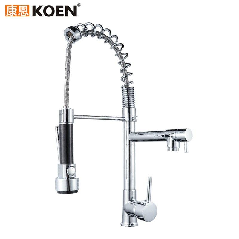 Для горячей и холодной смешивания воды Многофункциональный пружинный вытягивающий кухонный кран кухонная раковина кран сантехника