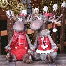 Christmas Party Decoration Dolls Christmas Decoration for Tree Santa Claus Snowman Toys Figurines Decorazioni
