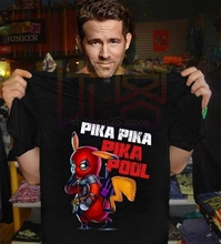 Deadpool Pika Pikapool T Shirt Black Cotton S-3XL Mens Short Sleeve t-shirt Streetwear The hottest T-shirt in the world