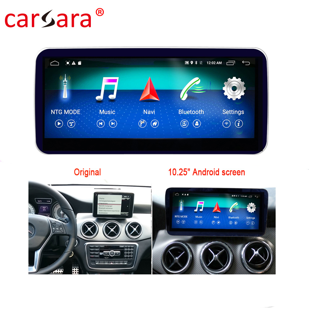 GLA CLA Stereo <font><b>Android</b></font> Screen W176 W117 X156 A250 A180 for Mercedes-Benz A G Class 13-18 DVD Multimedia Player Upgrage image