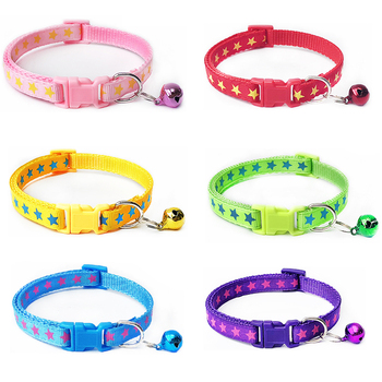 Pet Bell Collar Adjustable Buckle Cat Dog Pet Collar Neck Collar Printing Pet Accessories Puppy High Quality Cute Pets Collars image