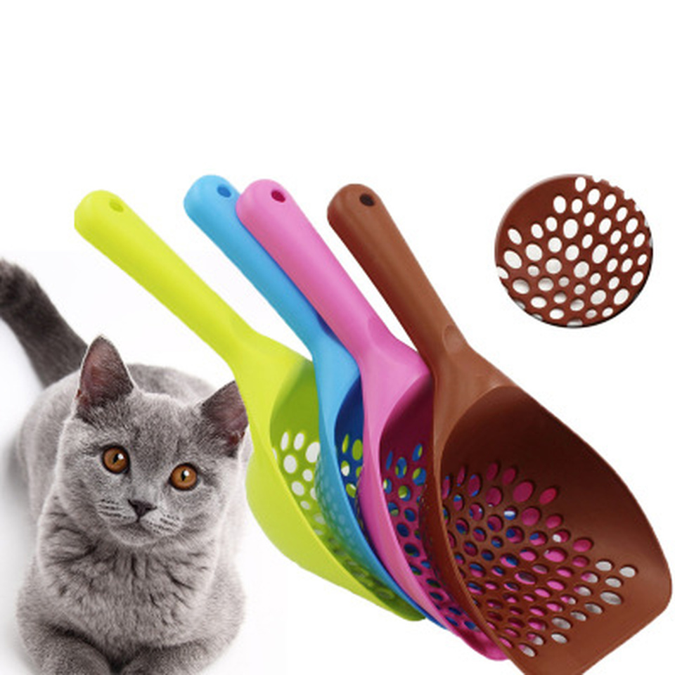 Pet Cat Litter Shovel Large Thickened Cat Litter Shovel Cat Shovel Pick Up Cat Toilet Cleaning Supplie Plastic Four Color Toilet
