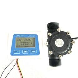 US211M Lite USN-HS10TB 1-100L/Min cyfrowy miernik przepływu 5V czytnik przepływu kompatybilny ze wszystkimi naszymi efekt halla czujnik przepływu wody Saie