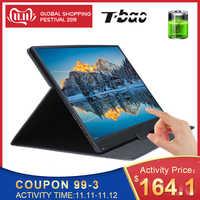 Monitor portátil de pantalla táctil t-bao 1920x1080 HD IPS Monitor de pantalla de 15,6 pulgadas batería recargable de 8000mAh con Funda de cuero