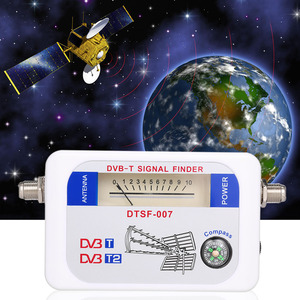 SF-007W Satellite Signal Finder Portable DVB-T DVB-T2 Digital Signal Finder TV Receiver with Compass Pointer(China)