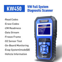 KONNWEI KW450 OBD2 VAG كوم رمز القارئ النفط ABS EPB DPF SRS TPMS إعادة تعيين أنظمة كاملة أدوات المسح التشخيصي ل ترموستات التبريد بالماء لسيارة أودي سيات سكودا