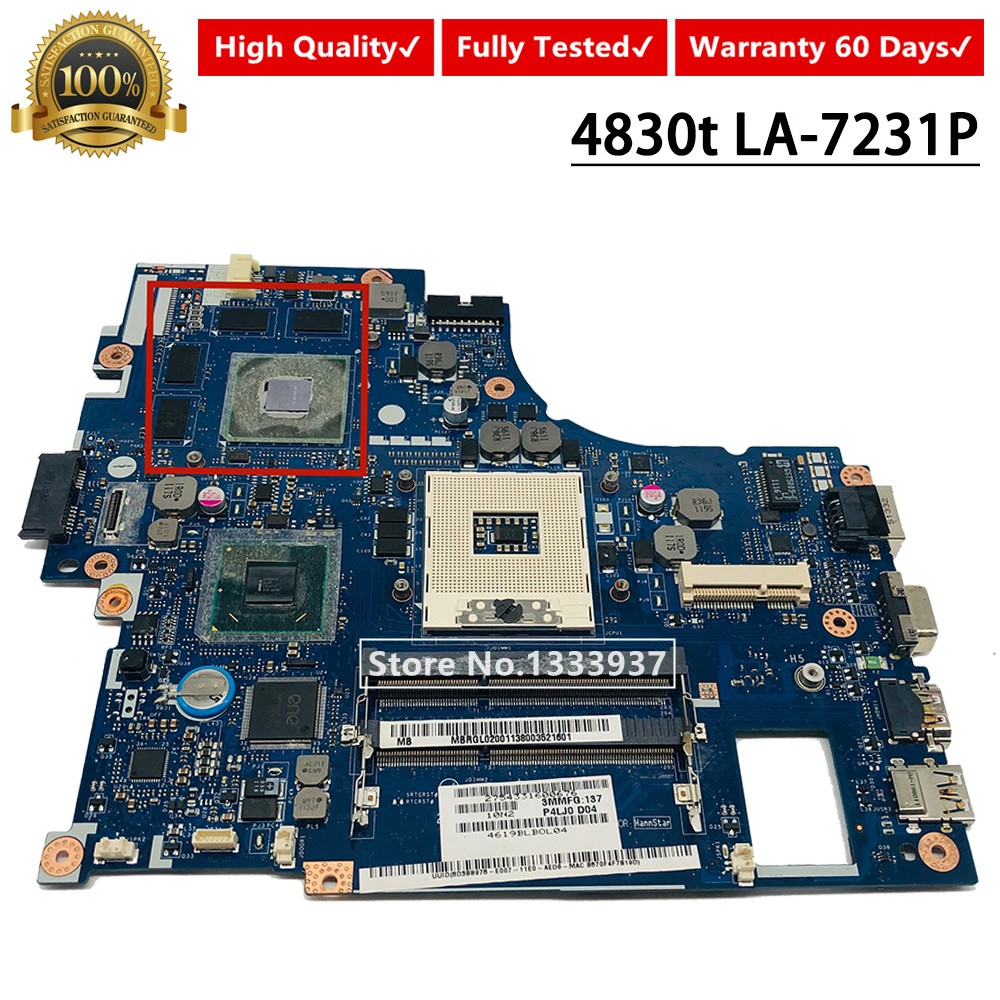 MB.RGL02.001 MBRGL02001 P4LJ0 LA-7231P Mainboard For <font><b>Acer</b></font> aspire <font><b>4830TG</b></font> 4830T 4830 Laptop Motherboard image