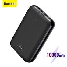 Baseus Mini 10000MAh Power Bank Dual USB Sạc Loại C Powerbank Di Động Sạc Pin Ngoài Du Lịch Poverbank Cho Điện Thoại