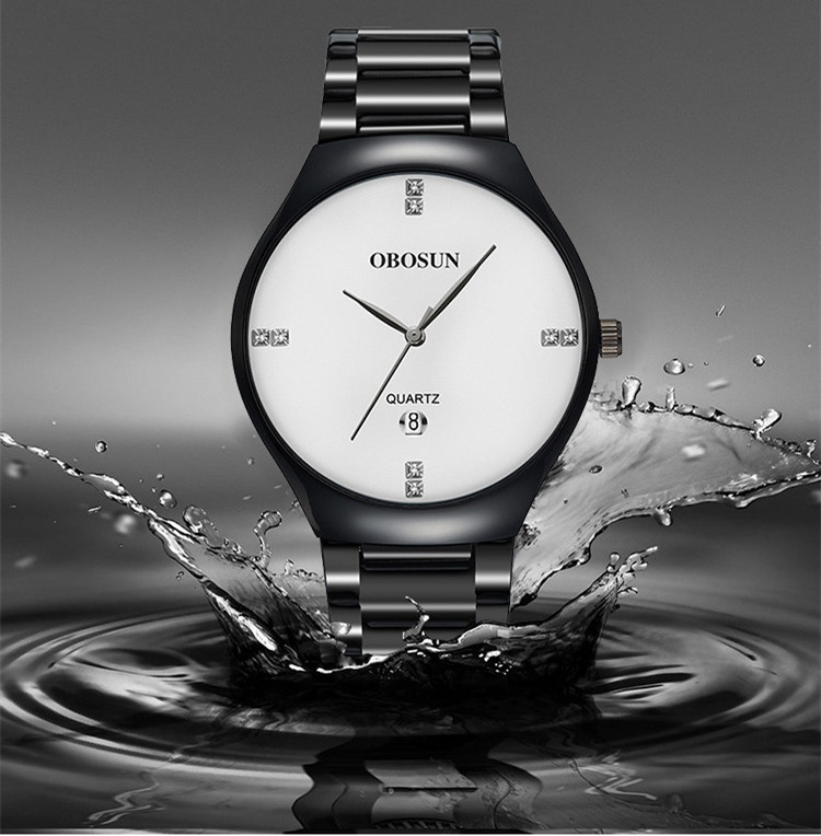 New Stacked Quartz Calendar Waterproof Watch Cross-Border Fashion Brand Sports Steel Band Men's Watch