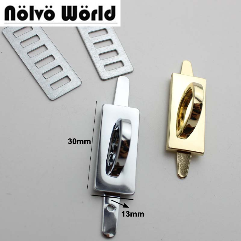 10-60pcs 6 Colors 30*13mm Alloy Gold Metal Arch Bridge Connector Hanger For Bags Belts Strap Rose Gold Toned